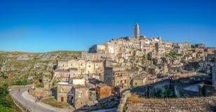Forntida stad av Matera, Basilicata, Italien royaltyfri bild