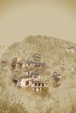 Forntida stad av Myra, Antalya, Turkiet stock illustrationer