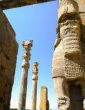 Forntida stad av Persepolis i Iran Fotografering för Bildbyråer