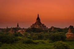 Forntida stad - Bagan Arkivbilder