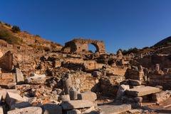 Forntida stad Ephesus royaltyfri bild