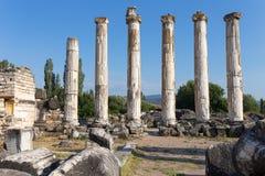 Forntida stad för Aphrodisias Aphrodisiasmuseum, Ayd? n Aegean region, Turkiet - Juli 9, 2016 royaltyfri bild