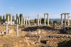 Forntida stad för Aphrodisias, Aphrodisiasmuseum, Ayd? n Aegean region, Turkiet - Juli 9, 2016 arkivbilder