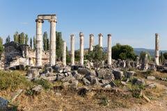Forntida stad för Aphrodisias, Aphrodisiasmuseum, Ayd? n Aegean region, Turkiet - Juli 9, 2016 Royaltyfri Fotografi