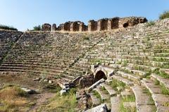 Forntida stad för Aphrodisias, Aphrodisiasmuseum, Ayd? n Aegean region, Turkiet - Juli 9, 2016 royaltyfri bild