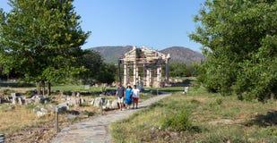 Forntida stad för Aphrodisias, Aphrodisiasmuseum, Ayd? n Aegean region, Turkiet - Juli 9, 2016 Royaltyfri Foto