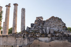 Forntida stad för Aphrodisias, Aphrodisiasmuseum, Aydin, Aegean region, Turkiet - Juli 9, 2016 Arkivbild