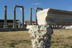 Forntida stad för Izmir marknadsplats Arkivfoton
