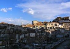 Forntida stad för Izmir marknadsplats Royaltyfri Fotografi