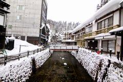 Forntida stad för snö Arkivbilder