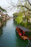 Forntida stad för vattenby-Wuzhen Arkivbilder