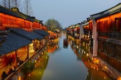 Forntida stad för vattenby-Wuzhen Royaltyfria Bilder