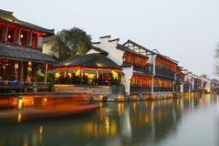 Forntida stad för vattenby-Wuzhen Royaltyfri Bild