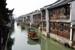 Forntida stad för vattenby-Wuzhen Royaltyfri Fotografi