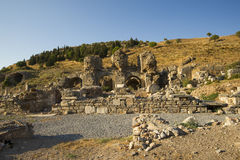 Forntida stad för övregata av Ephesus. Royaltyfri Fotografi