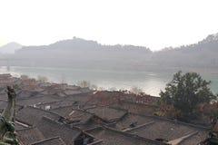 Forntida stad, hemstad, kinesiskt nytt år royaltyfria foton