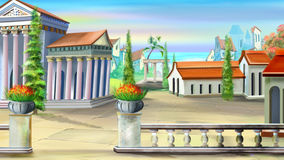 Forntida stad i en sommardag Royaltyfria Foton