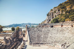 Forntida stad i Myra Demre Turkey Royaltyfria Bilder