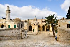 forntida stad jerusalem Royaltyfri Bild