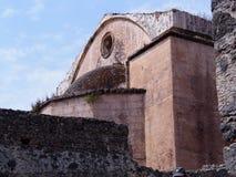 Forntida stad Kayakoy, spökstad arkivfoton