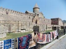 Forntida stad Mtskheta, Georgia royaltyfri bild