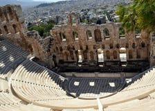 Forntida stadion av Rhodes, Acropolis, Grekland. Arkivfoto