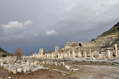 forntida stadsephesus Arkivfoto