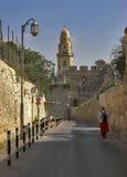 forntida stadsgata Royaltyfri Fotografi
