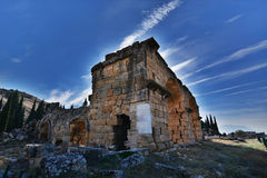 forntida stadshierapolis Arkivfoton