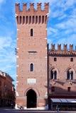 Forntida stadshus i Ferrara, Italien Royaltyfri Fotografi