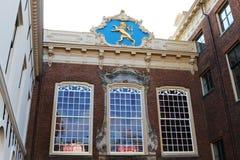 Forntida stadshus i Leeuwarden, Holland Arkivfoto