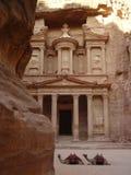 forntida stadsjordan petra Arkivbilder