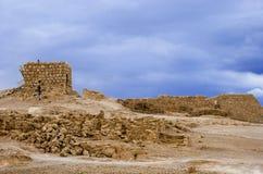 forntida stadsmasada Arkivfoto