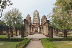 forntida stadssukothai thailand Arkivbilder