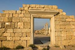 forntida stadsvägg Arkivbild