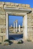 forntida stadsvägg arkivfoto