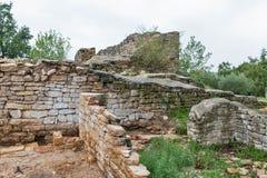 Forntida station Blek, Istria, Kroatien för utgrävningplats nästan Arkivbilder