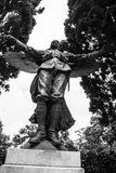 Forntida staty av den stupade soldaten i Italien Royaltyfri Bild