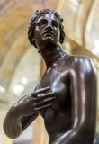 Forntida staty av Roman Woman Arkivbild