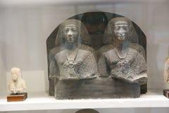 Forntida staty i det egyptiska museet Egypten Royaltyfri Fotografi