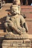 Forntida statyer i Bhaktapur. arkivfoto