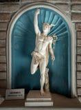 Forntida statygud av komrets Hermes - Mercury arkivbild