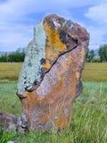 Forntida sten ritulny Khakassia. Sibirien Arkivbilder