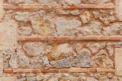 Forntida stendel av väggen Arkivfoto