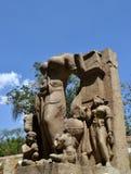 Forntida stenförebild Indien Arkivbilder
