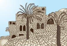 Forntida stenhus Arkivfoto