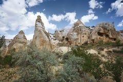 Forntida stenhus av Cappadocia arkivfoto