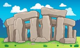 Forntida stenmonumenttema 2 Arkivbild