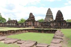 Forntida stenslott i Thailand Arkivbild