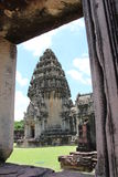 Forntida stenslott i Thailand Arkivbilder